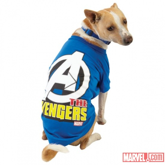 Avengers Blue Dog Tee by Fetch available at PetSmart