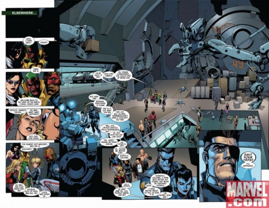 SECRET INVASION #5, pages 3-4