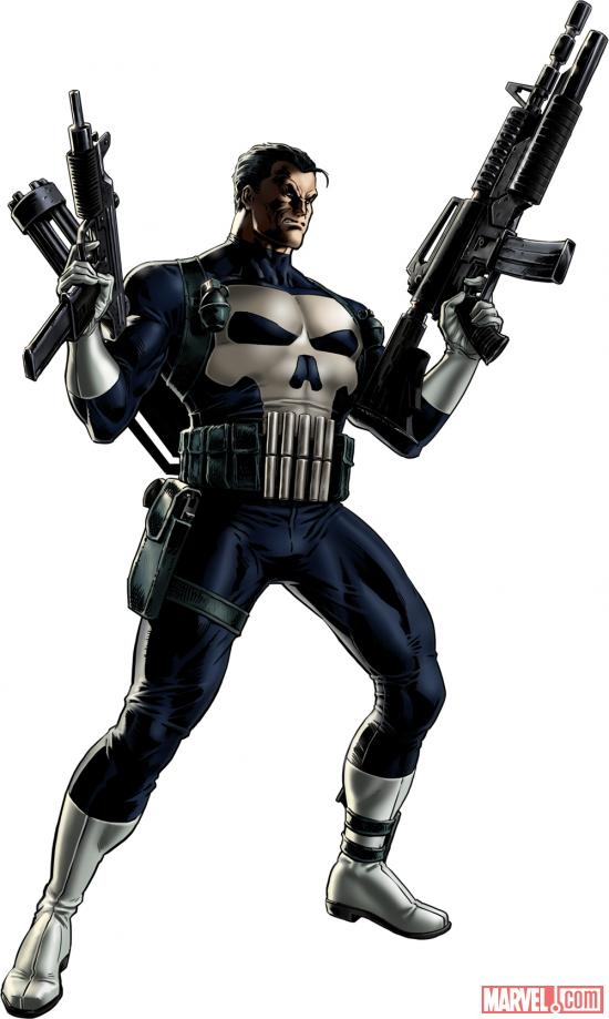 Punisher character model from Marvel: Avengers Alliance