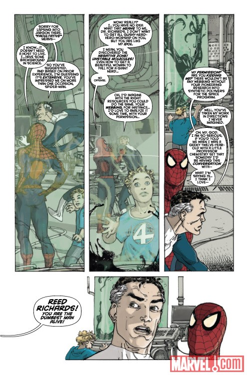 SPIDER-MAN/FANTASTIC FOUR #2 preview art by Mario Alberti