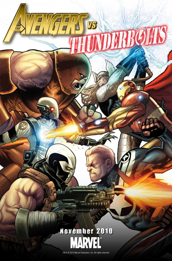 Avengers vs Thunderbolts by Greg Land