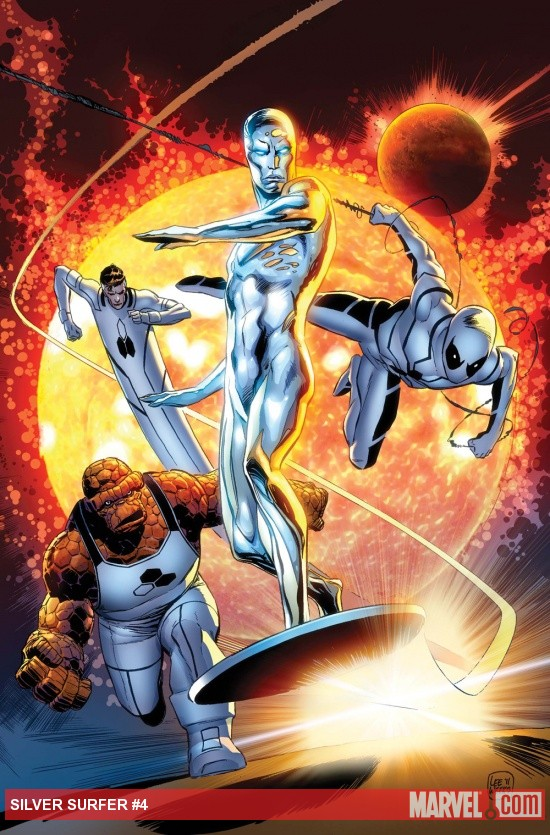 Silver Surfer (2011) #4 cover by Lee Weeks