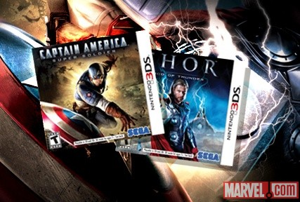 Thor &amp; Captain America Coming to Nintendo 3DS