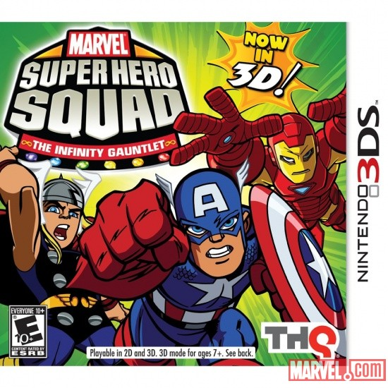 Marvel Super Hero Squad: The Infinity Gauntlet Nintendo 3DS box art