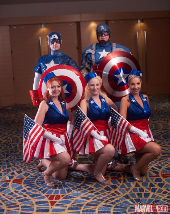 Marvel Costuming: Captain America &amp; the USO Girls at Dragon*Con 2012