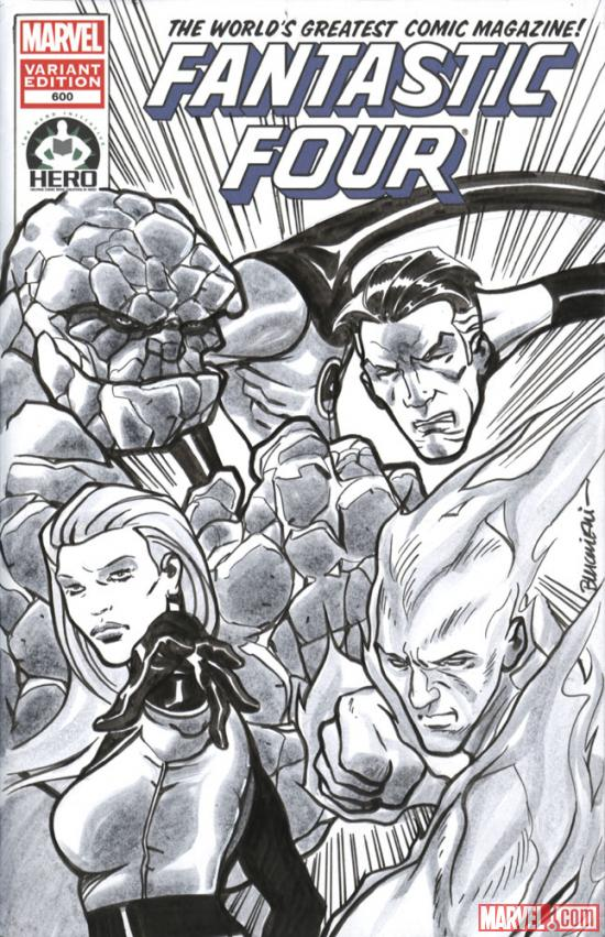 Fantastic Four #600 Hero Initiative variant cover by Riccardo Burchielli