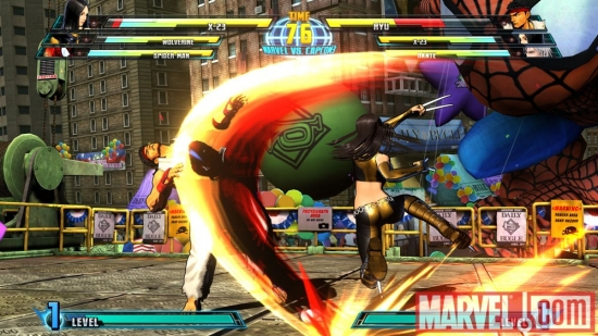 Ryu vs X-23 in Marvel vs. Capcom 3