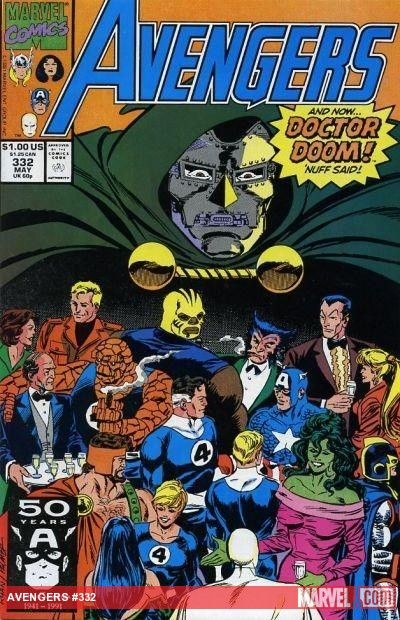 Avengers (1963) #332 cover by Paul Ryan