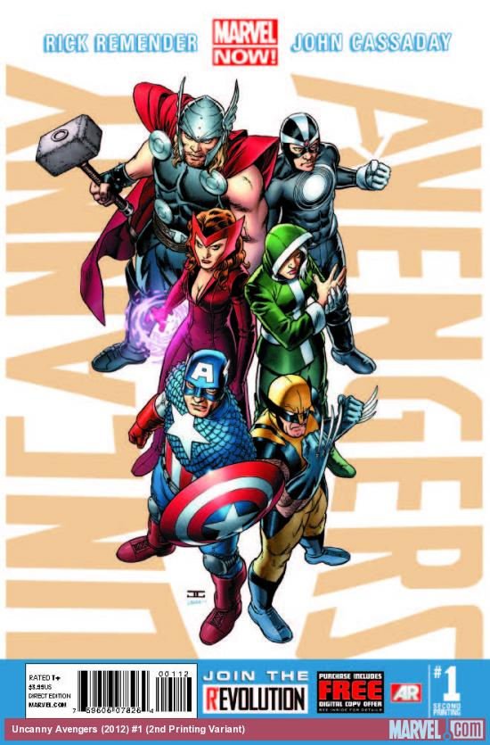 UNCANNY AVENGERS 1 2ND PRINTING VARIANT (NOW, WITH DIGITAL CODE)