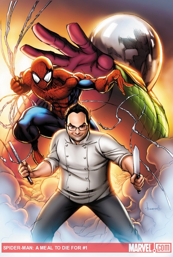 Spider-Man: A Meal To Die For #1 cover by Ale Garza