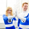 C2E2 2011 - Fantastic Four Cosplay Group - Invisible Woman & Torch