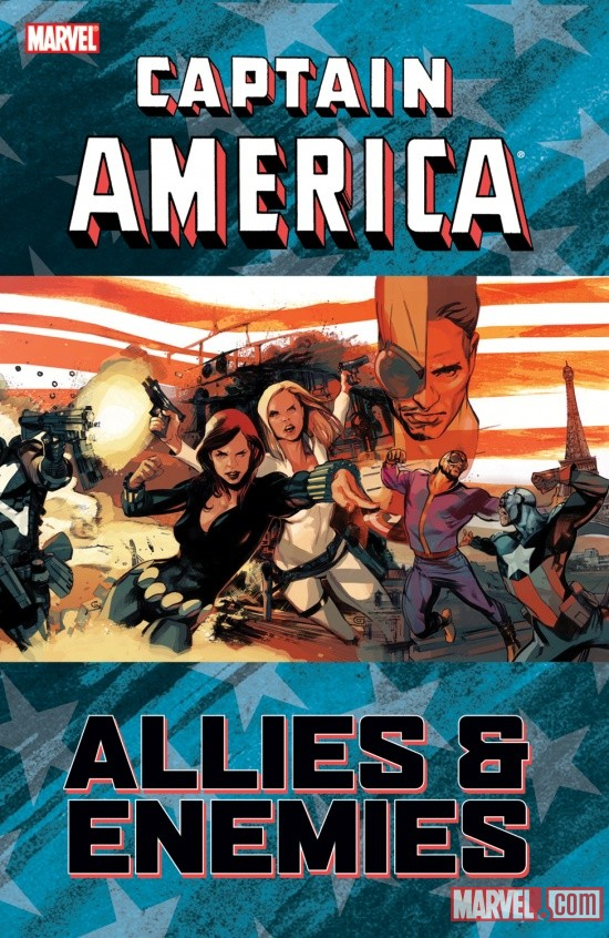 CAPTAIN AMERICA: ALLIES &amp; ENEMIES TPB cover by Greg Tocchini