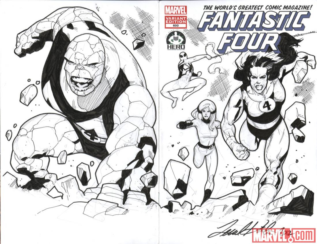 Fantastic Four #600 Hero Initiative variant cover by Leonard Kirk