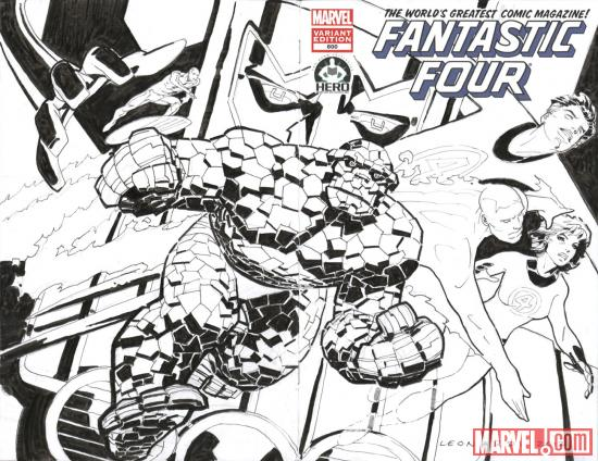 Fantastic Four #600 Hero Initiative variant cover by Rick Leonardi