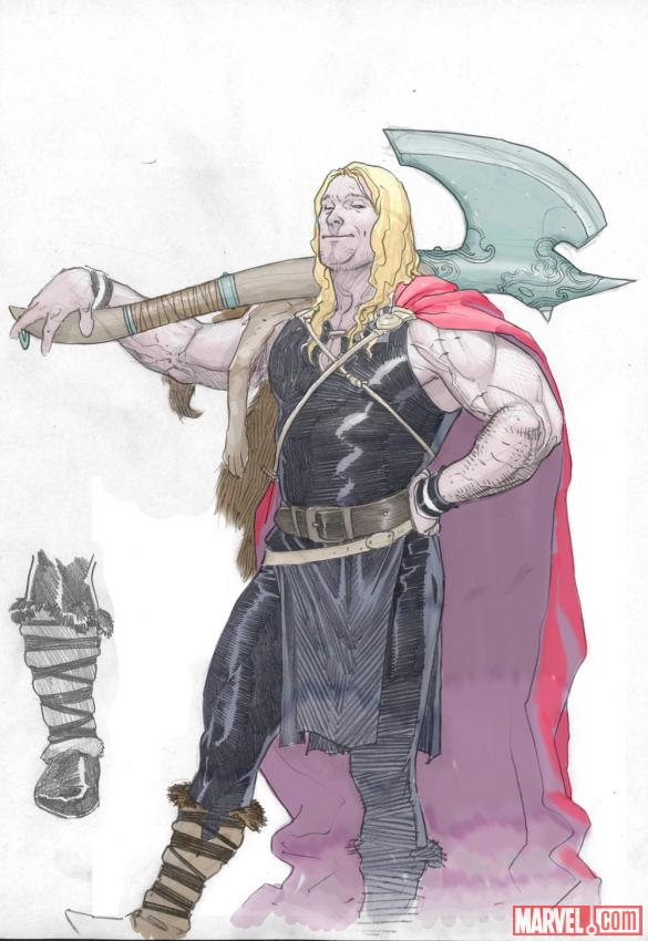Young Thor colored sketch by Esad Ribic