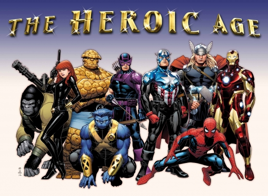 Image Featuring Thing, Thor, Gorilla Man, The Winter Soldier, Beast, Black Widow, Hawkeye, Iron Man