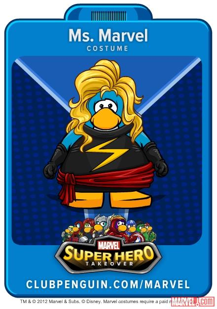 Ms. Marvel suit from Club Penguin