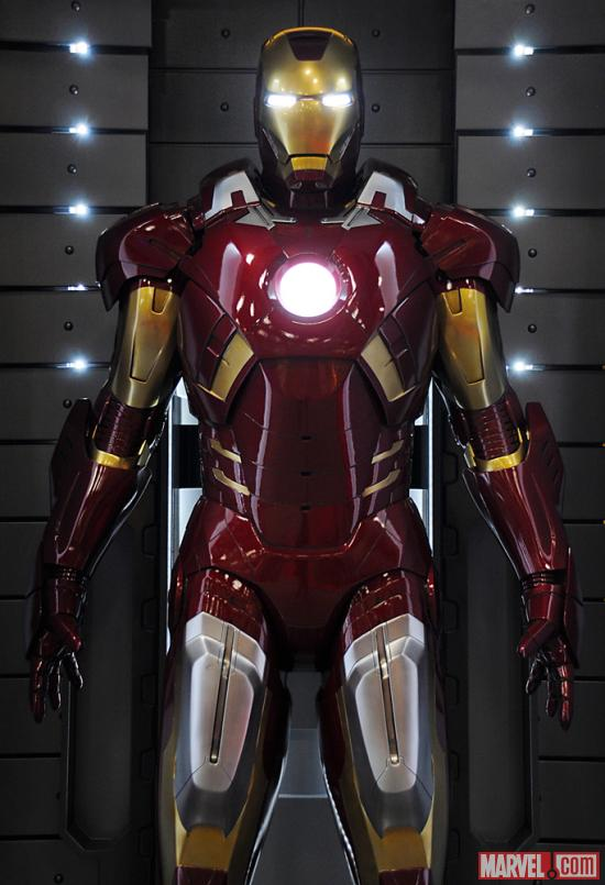 The Mark VII armor at the Marvel Booth at San Diego Comic-Con 2012