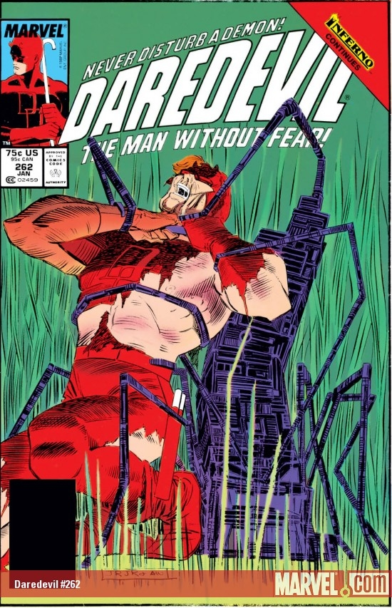 DAREDEVIL #262 COVER