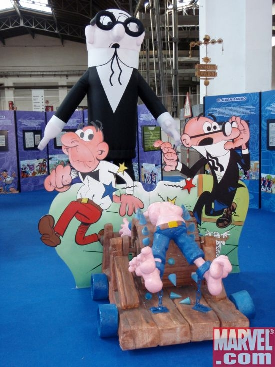 An exhibit celebrating 50 years of Spain's beloved Mortadelo y Filemon