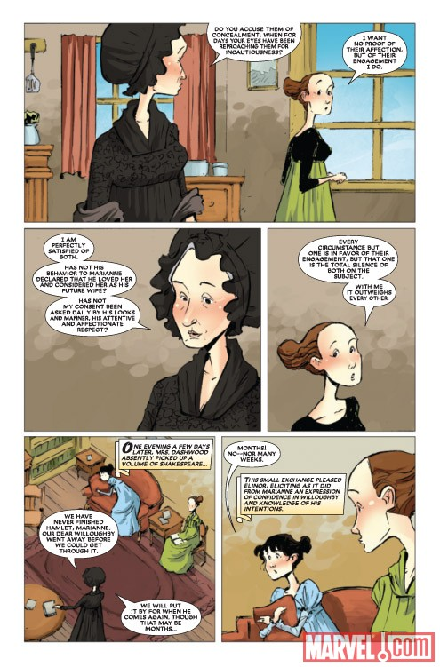 SENSE &amp; SENSIBILITY #3 preview art by Sonny Liew