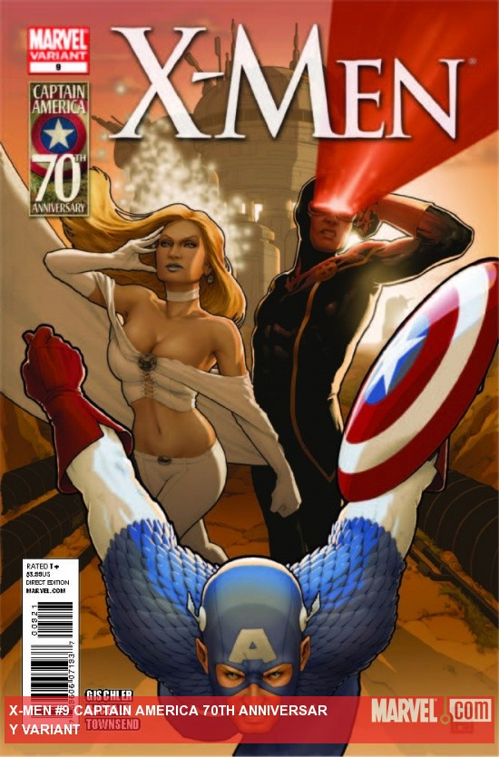 X-Men (2010) #9, CAPTAIN AMERICA 70TH ANNIVERSARY VARIANT
