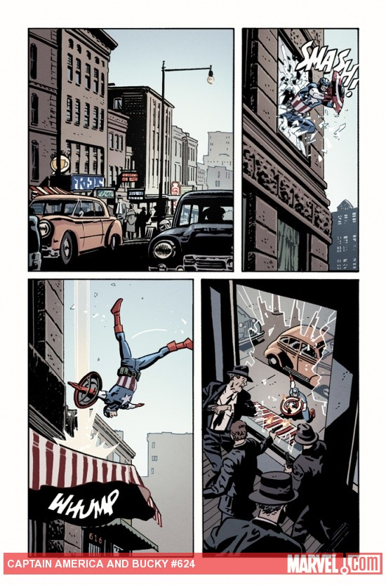 Captain America & Bucky #624 preview art by Chris Samnee