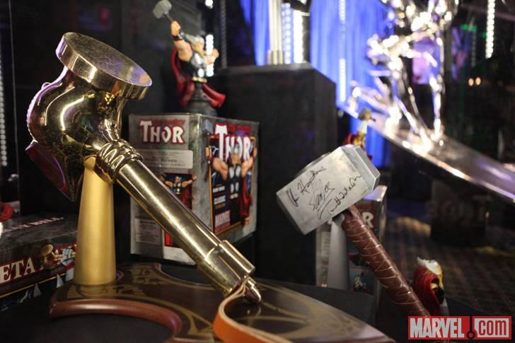 Replica of Thor's hammer at the El Capitan Theatre in Hollywood