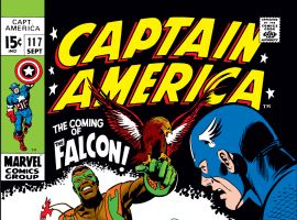 The Falcon's first appearance in Captain America #117