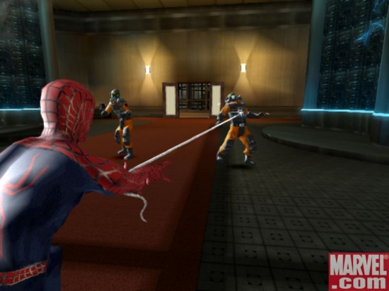 Spider-Man vs. thugs