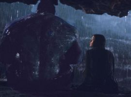 Hulk and Betty Ross share a tender moment