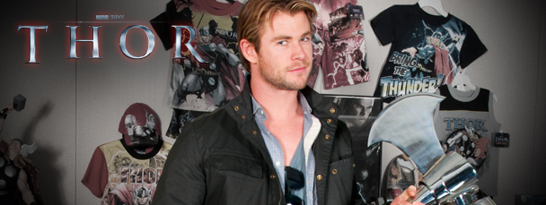 Chris Hemsworth Visits Marvel HQ