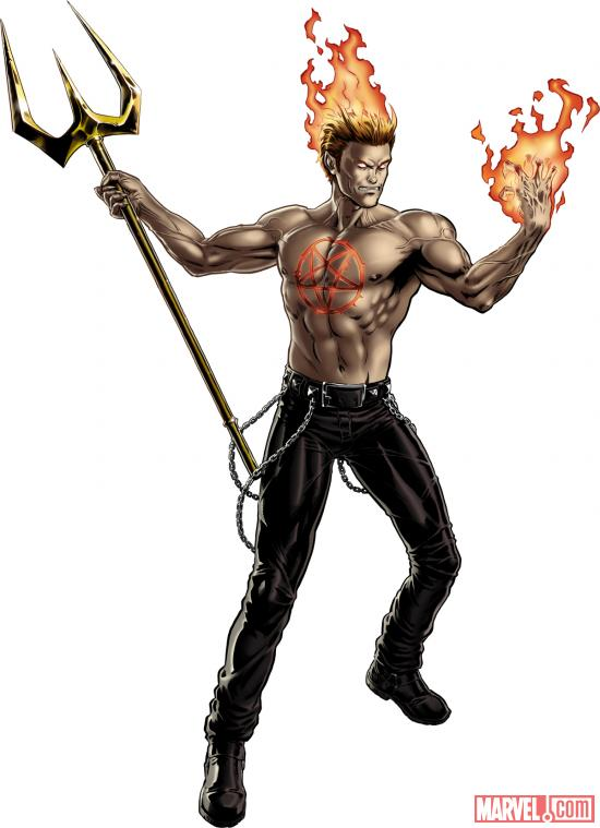 Daimon Hellstrom character model from Marvel: Avengers Alliance