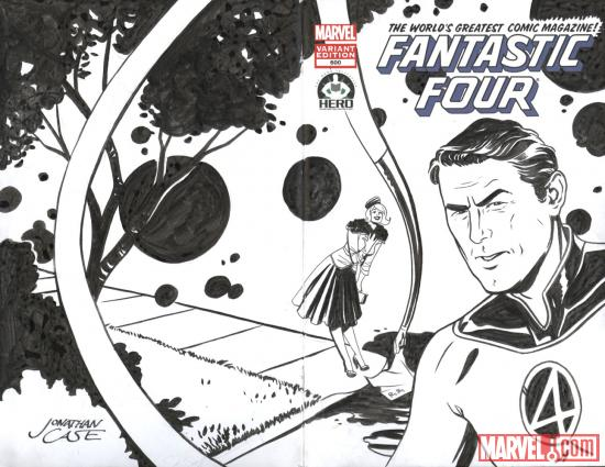 Fantastic Four #600 Hero Initiative variant cover by Jonathan Case