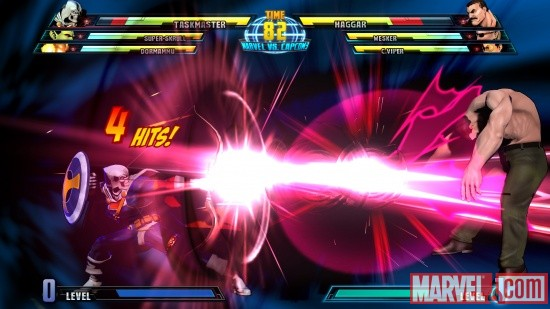 Marvel vs. Capcom 3 screenshot: Taskmaster vs. Haggar