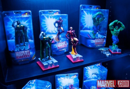 Monogram International Iron Man, Hulk, and Dr. Doom figures