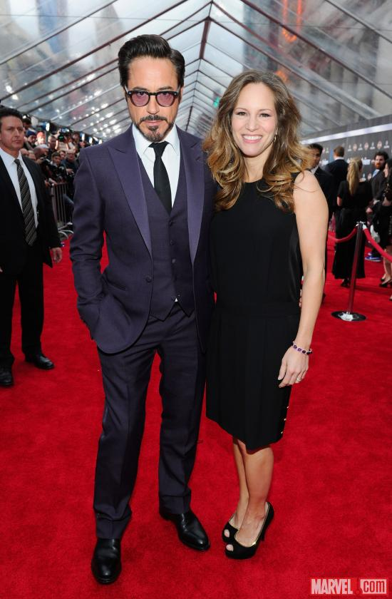 Robert Downey Jr. and Susan Downey at the Avengers red carpet world premiere