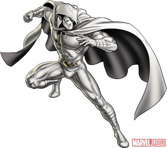 Moon Knight character model from Marvel: Avengers Alliance