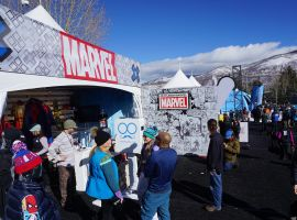 The 2016 Marvel Winter X Games Booth