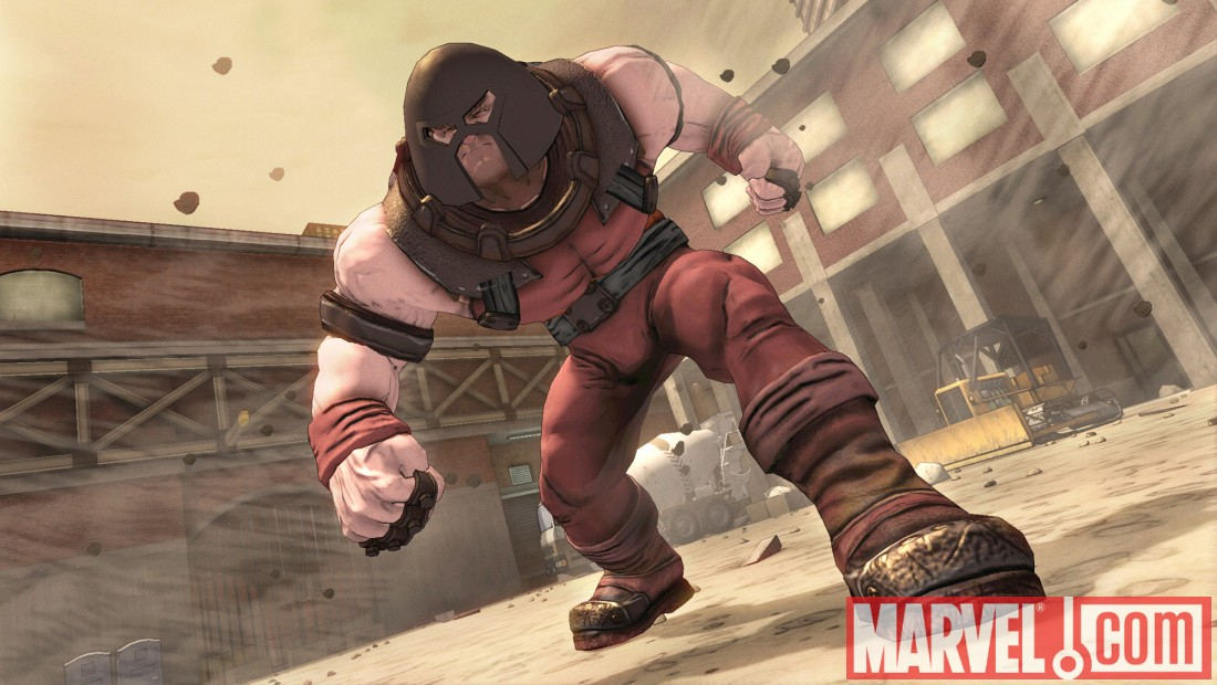 Juggernaut from the 2099 universe in Spider-Man: Shattered Dimensions