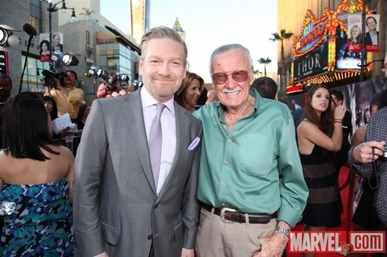 Director Kenneth Branagh and Stan Lee at the U.S. premiere of Thor