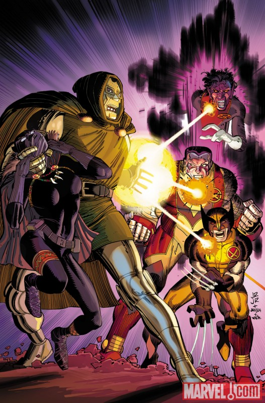 Image Featuring Colossus, Doctor Doom, Nightcrawler, Wolverine
