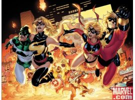 CAPTAIN MARVEL #4 and MS. MARVEL #25 covers