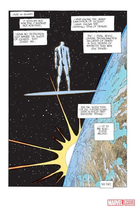 Silver Surfer: Parable art by Moebius