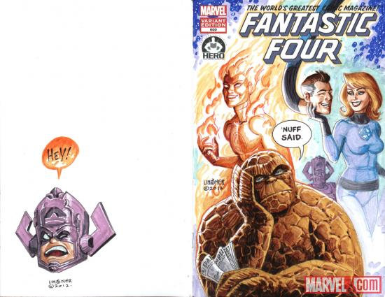 Fantastic Four #600 Hero Initiative variant cover by Joseph Michael Linsner