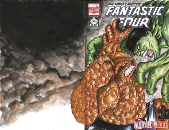 Fantastic Four #600 Hero Initiative variant cover by Albert Morales