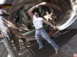 New \'\'X-Men Origins: Wolverine\'\' screenshot showing the HUD