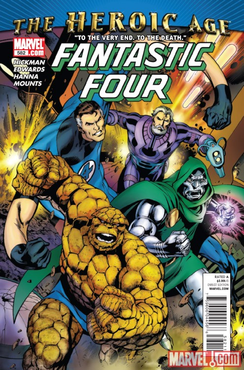 Fantastic Four #582 cover by Alan Davis