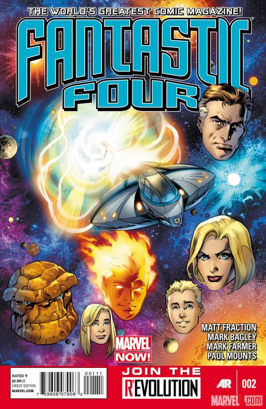 Fantastic Four (2012) #2 cover by Mark Bagley