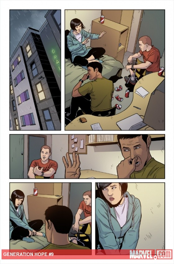 Generation Hope #9 preview art by Jamie McKelvie